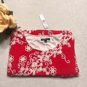 GLAMOUR EMBROIDERED BRIGHT RED DRESS *NWT*
